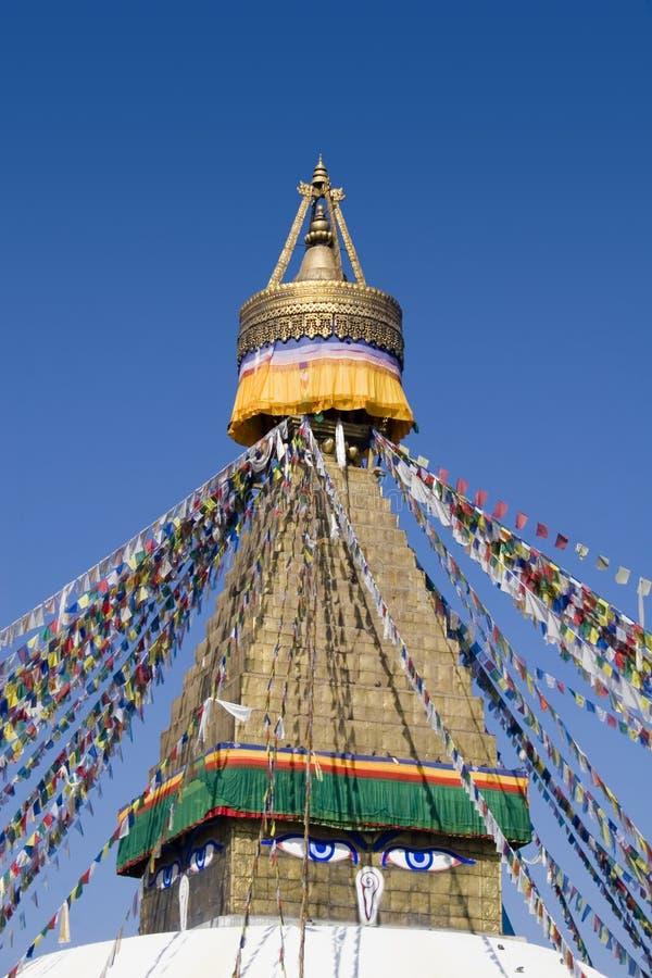 Bodhnath Stupa - Nepal royalty-vrije stock afbeeldingen