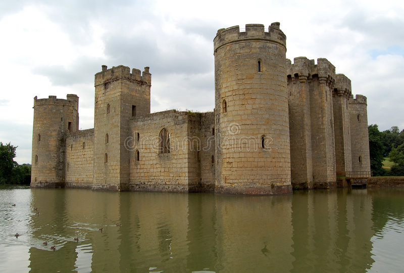 bodiam城堡 免版税图库摄影
