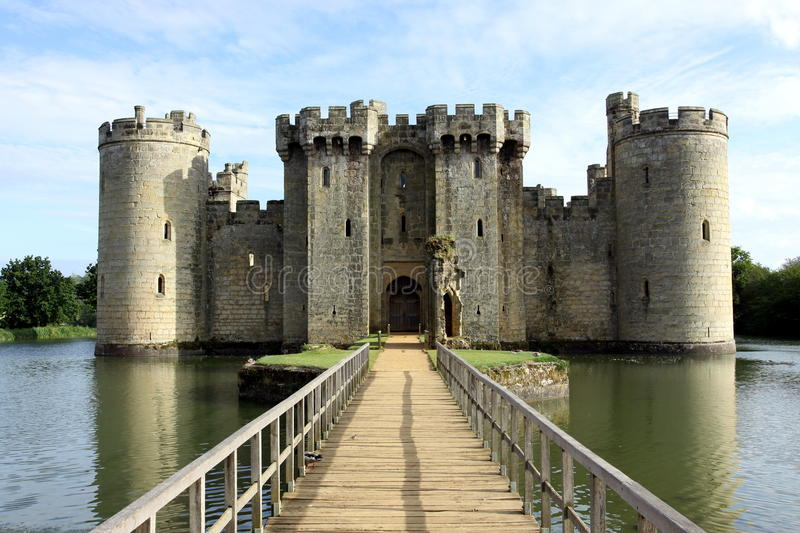 Bodiam castle stock photography