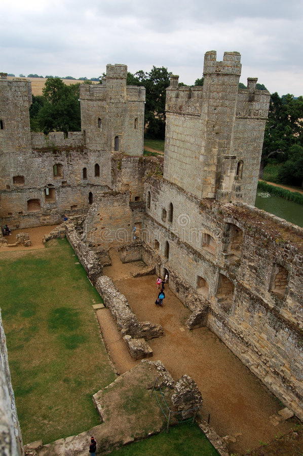 Bodiam castle interior. royalty free stock photography