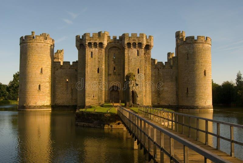 bodiam drawbridge grodowy wejście północny obraz royalty free