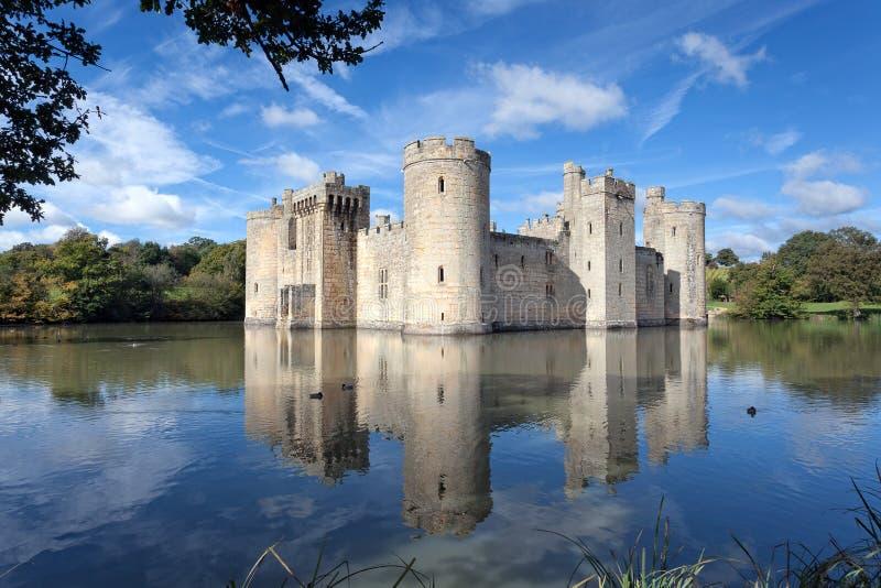 Bodiam slott, östliga Sussex, UK arkivfoton