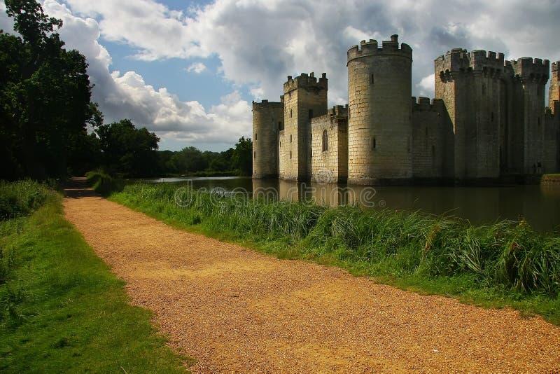 Bodiam slott fotografering för bildbyråer