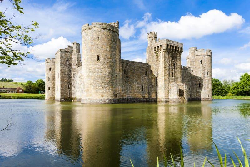 Bodiam slott, ?stliga Sussex, England arkivfoton