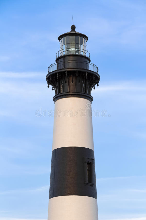 Bodie海岛光的上面 免版税库存照片