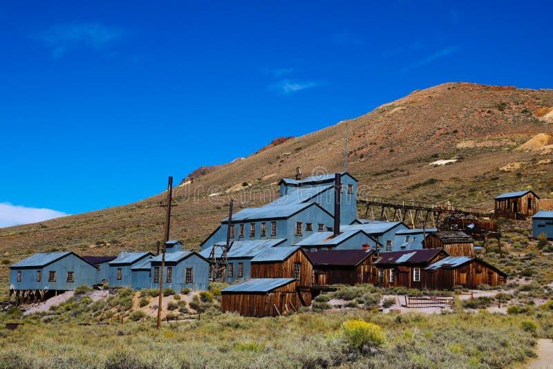 Bodie è un parco di stato storico di una città fantasma a partire da un'era di febbre dell'oro in Sierra Nevada immagine stock libera da diritti