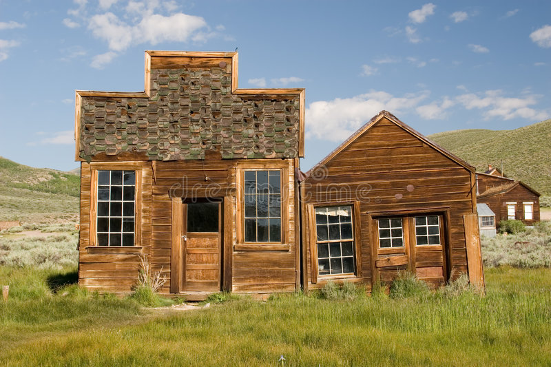 Bodie Buildings. Buildings in Bodie, California. California's Official Ghost Town stock image