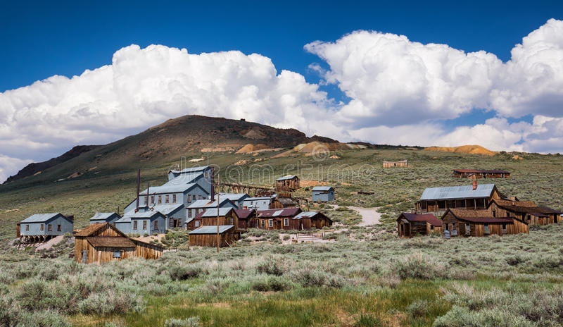 Bodie, California. Old wooden house in a ghost town, Bodie, California royalty free stock images
