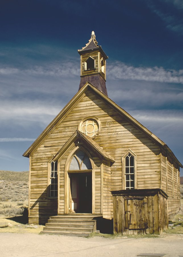 Download Bodie Church stock image. Image of desert, steeple, wooden - 38755
