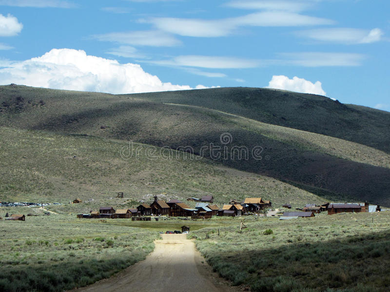 Bodie ghost town. In California - panorama view stock photo