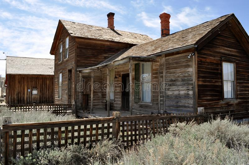 Bodie Ghost Town. Old home in Bodie Ghost Town royalty free stock photography