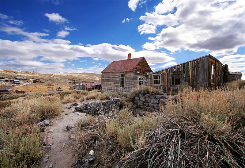 Bodie Ghost Town. Abandoned homes in Bodie Ghost Town stock photos