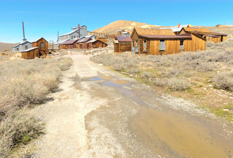 Bodie Ghost Town, Buildings In Arrested Decay Stock Photos