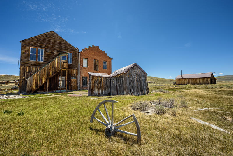 Bodie ghost town in California. Bodie is a historic state park from a gold rush era in the Bodie Hills east of the Sierra Nevada stock images