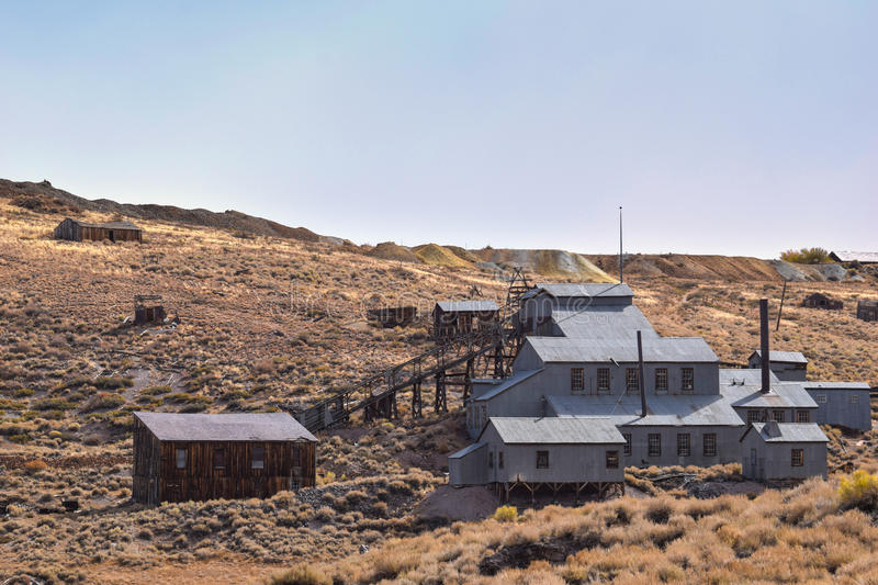 Bodie, ghost town. The ghost town of Bodie, California, is a landmark visited by people from all of the world royalty free stock images