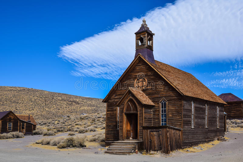 Bodie, ghost town. The ghost town of Bodie, California, is a landmark visited by people from all of the world royalty free stock photos