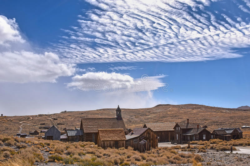 Bodie, ghost town. The ghost town of Bodie, California, is a landmark visited by people from all of the world stock photography