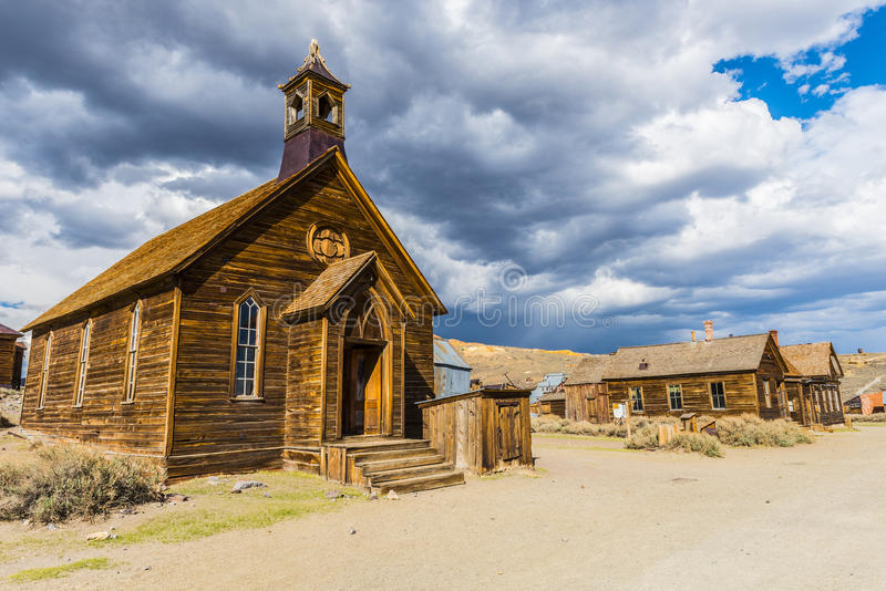 Bodie. Ghost town of Bodie is a National Historic Landmark. It is located in Mono County, Sierra Nevada - California. United States of America. The town was stock images