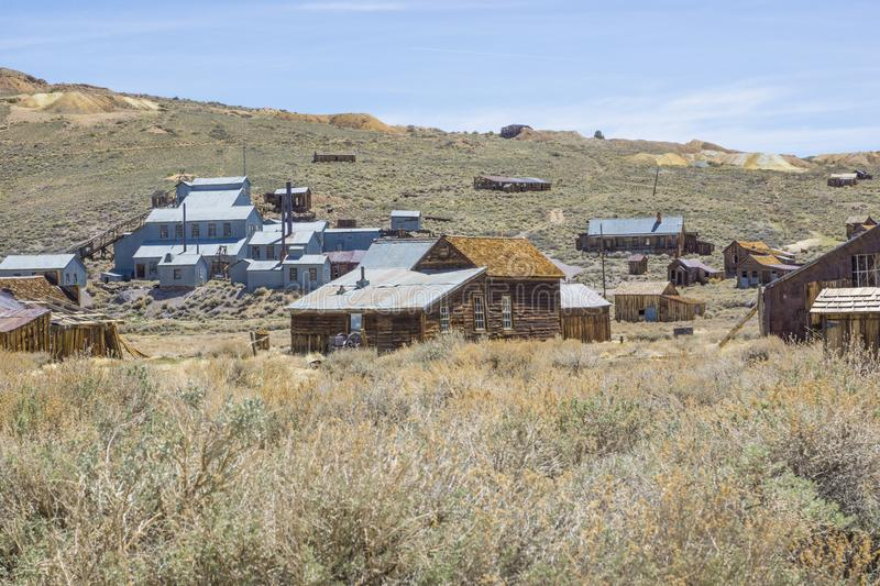 Bodie Ghost Town Stamp Mill photographie stock