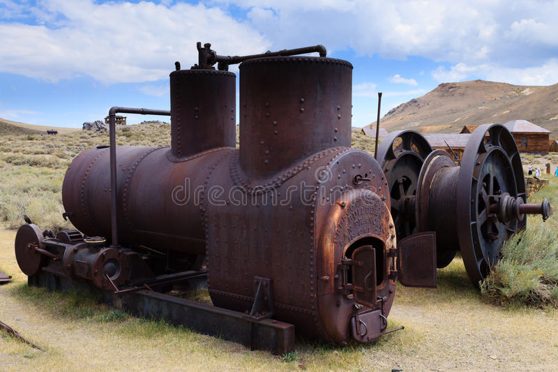 Bodie ghost town. View from Bodie Ghost Town, California USA. Old abandoned mine stock image