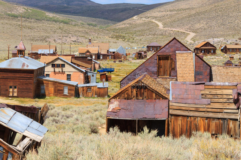 Bodie ghost town. View from Bodie Ghost Town, California USA. Old abandoned mine stock photo
