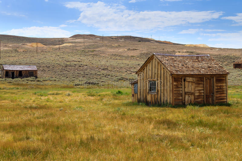 Bodie ghost town. View from Bodie Ghost Town, California USA. Old abandoned mine royalty free stock photography
