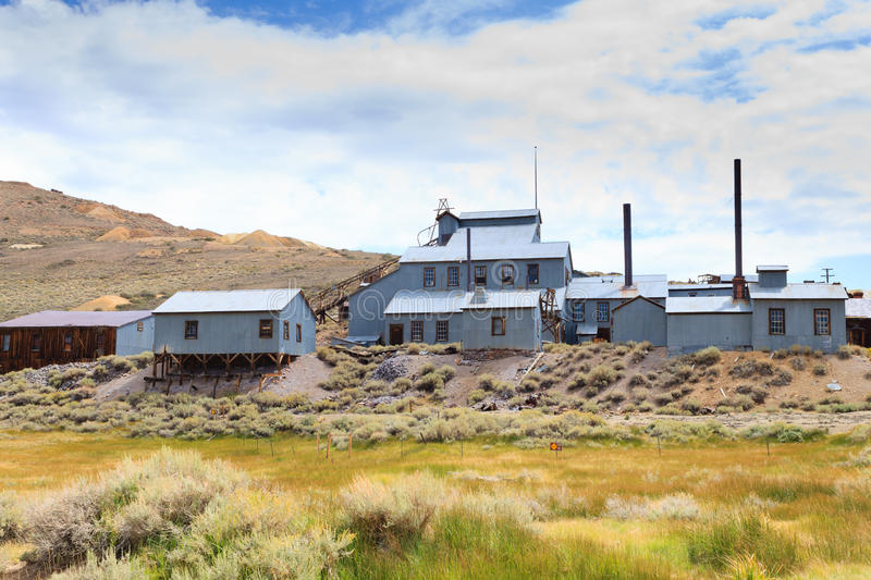 Bodie ghost town. View from Bodie Ghost Town, California USA. Old abandoned mine stock photography