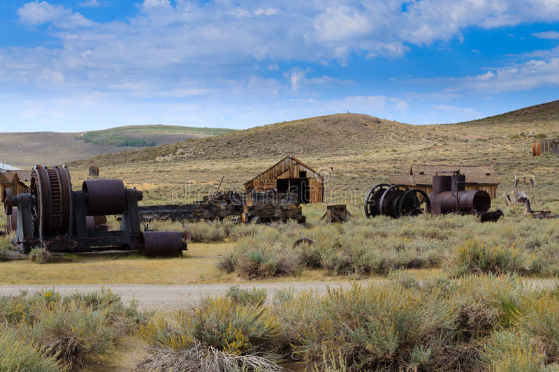 Bodie ghost town. View from Bodie Ghost Town, California USA. Old abandoned mine stock images