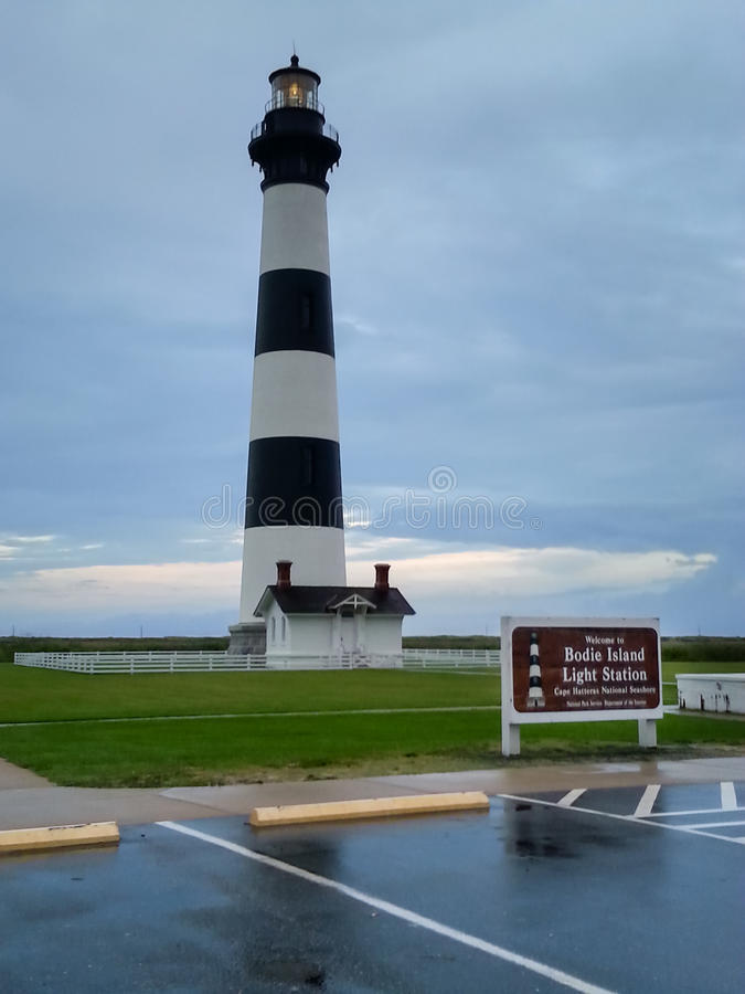 Bodie Island Light Station North Carolina fotografia de stock