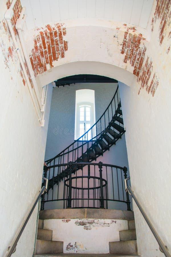 Bodie Island Lighthouse à l'intérieur images stock