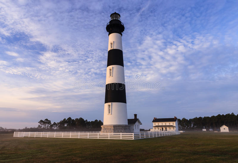 Bodie Island Lighthouse Blue Sky Noord-Carolina royalty-vrije stock fotografie