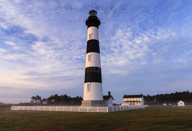 Bodie Island Lighthouse Blue Sky North Carolina fotografia de stock royalty free