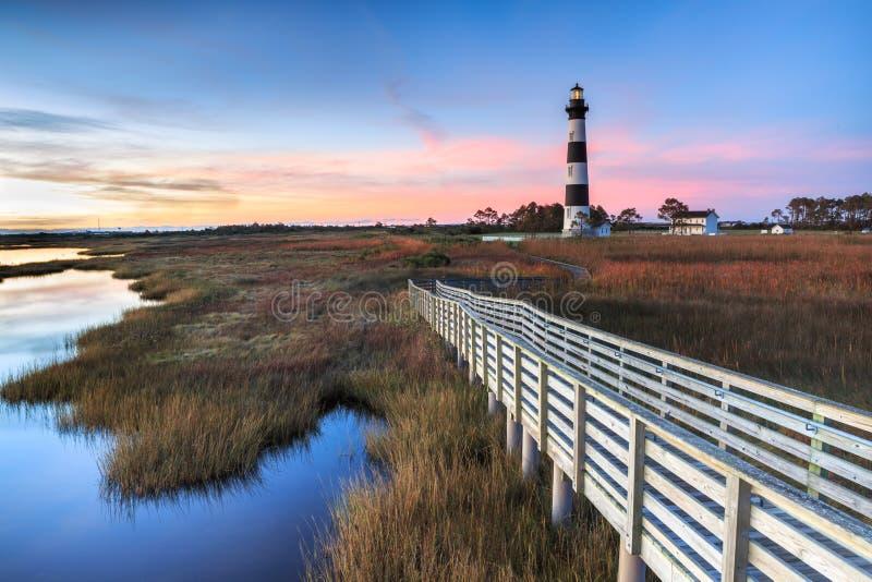 Bodie Island Lighthouse Cape Hatteras la Caroline du Nord images stock