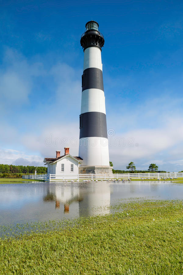 Bodie Island Lighthouse Flooded Field images libres de droits