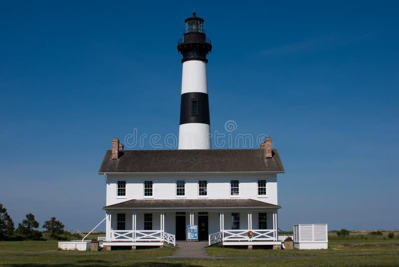 Bodie Island Lighthouse histórico no litoral nacional de Hatteras do cabo nos bancos exteriores de North Carolina imagens de stock