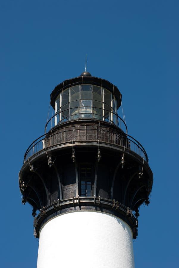 Bodie Island Lighthouse histórico no litoral nacional de Hatteras do cabo nos bancos exteriores de North Carolina foto de stock