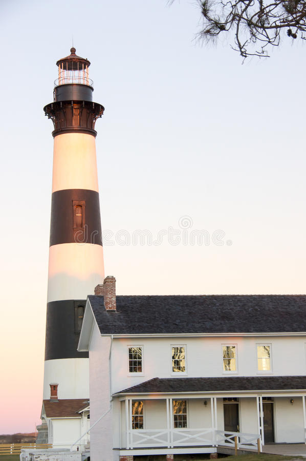 Bodie Island Lighthouse I royaltyfri bild