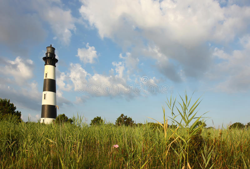 The Bodie Island lighthouse from the marshes royalty free stock images