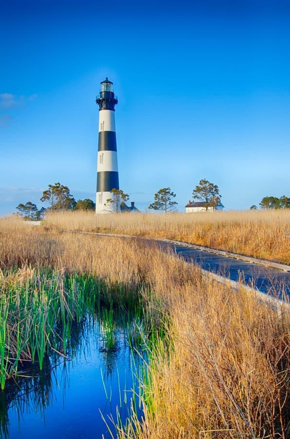 Bodie Island Lighthouse OBX le Cap Hatteras photos libres de droits