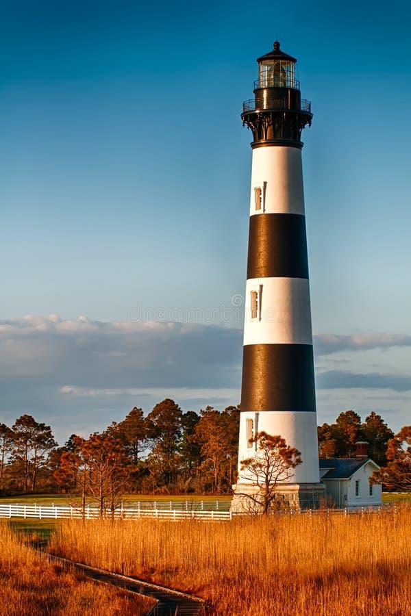 Bodie Island Lighthouse OBX udde Hatteras royaltyfri foto