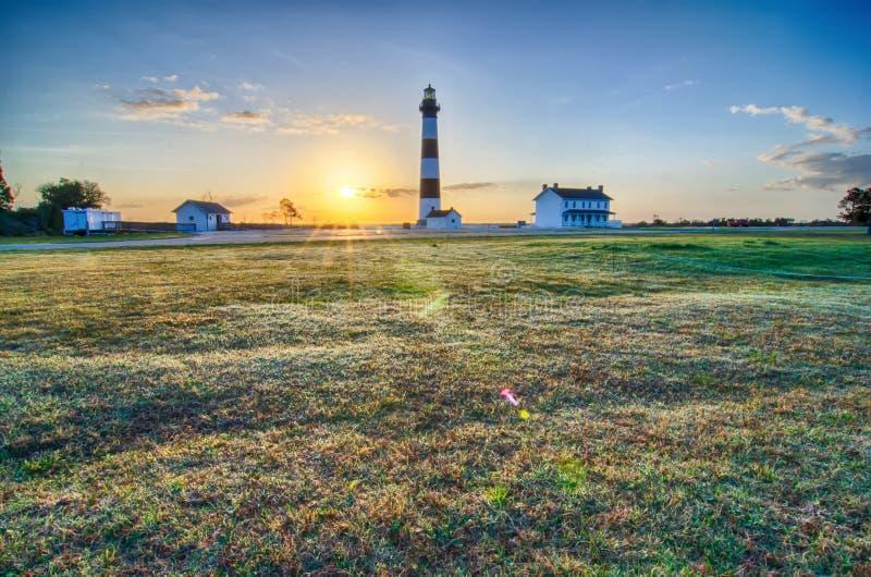Bodie Island Lighthouse OBX udde Hatteras arkivfoton