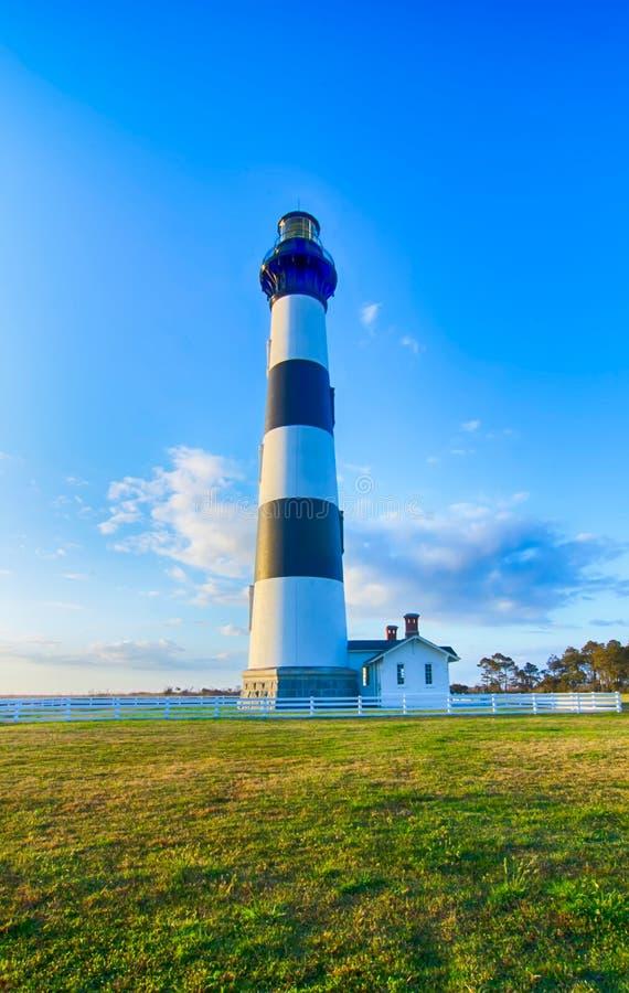 Bodie Island Lighthouse OBX udde Hatteras royaltyfri bild