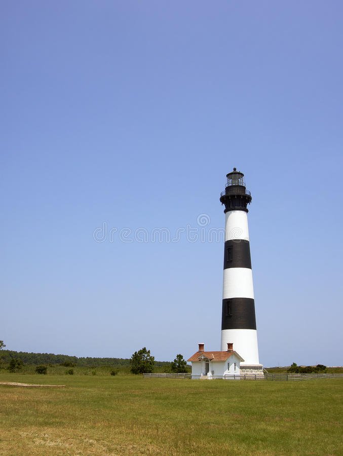 Bodie Island lighthouse on the outer banks royalty free stock photos