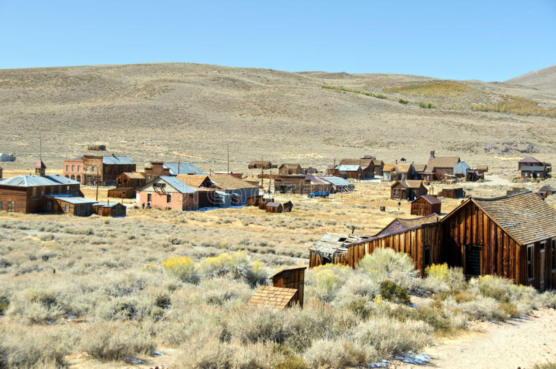 Bodie-nationaler Nationalpark, Ca, USA lizenzfreies stockbild