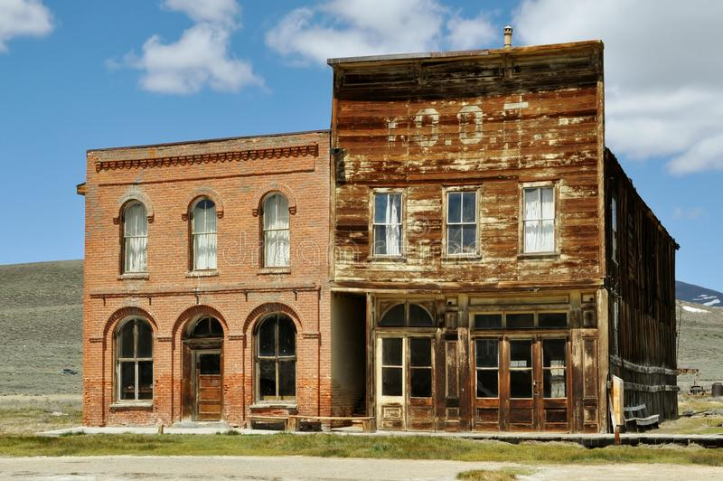 Bodie post office. Abandoned post office in Bodie ghost town royalty free stock photo