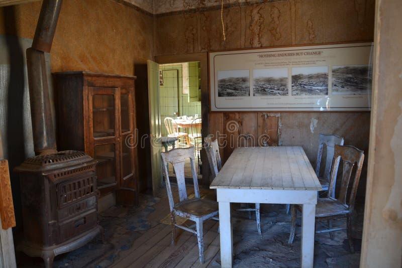 Bodie State Historic Park: keuken stock afbeelding