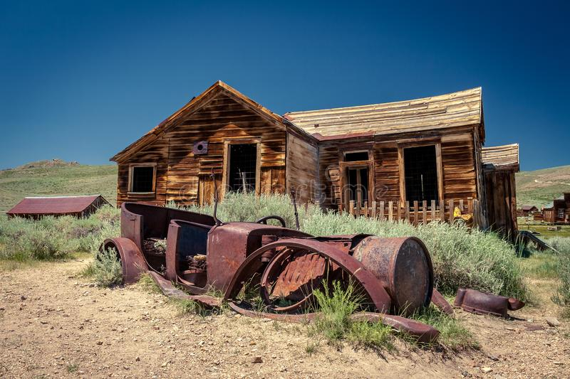 Bodie. State Park is a mining ghost town in Eastern California stock photos