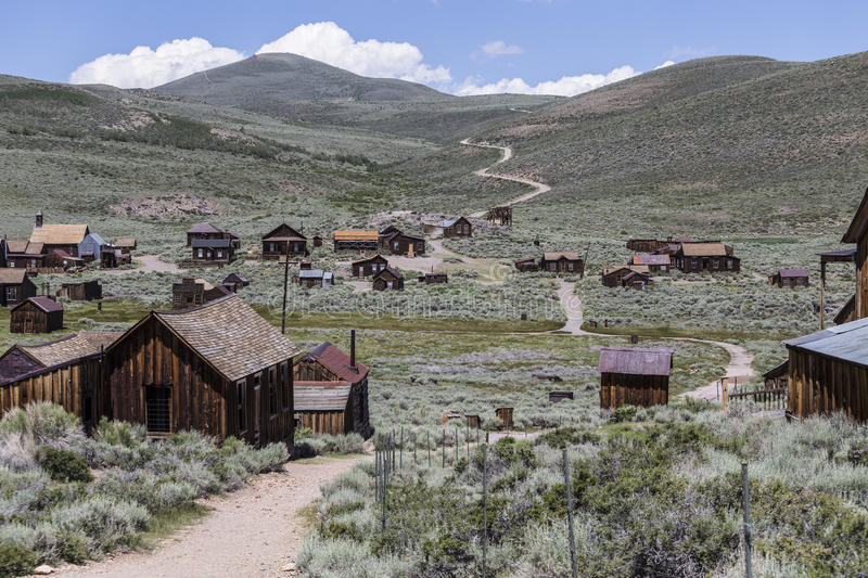 Bodie Wild West Ghost Town. At Bodie State Historic park in California's Sierra Nevada Mountains stock photos