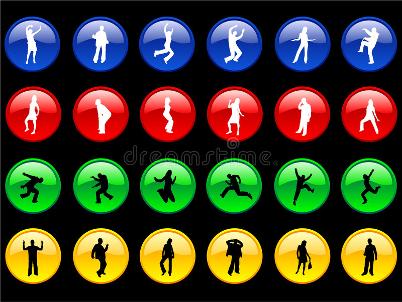 Download Bodies on the  Buttons stock vector. Illustration of button - 2269238