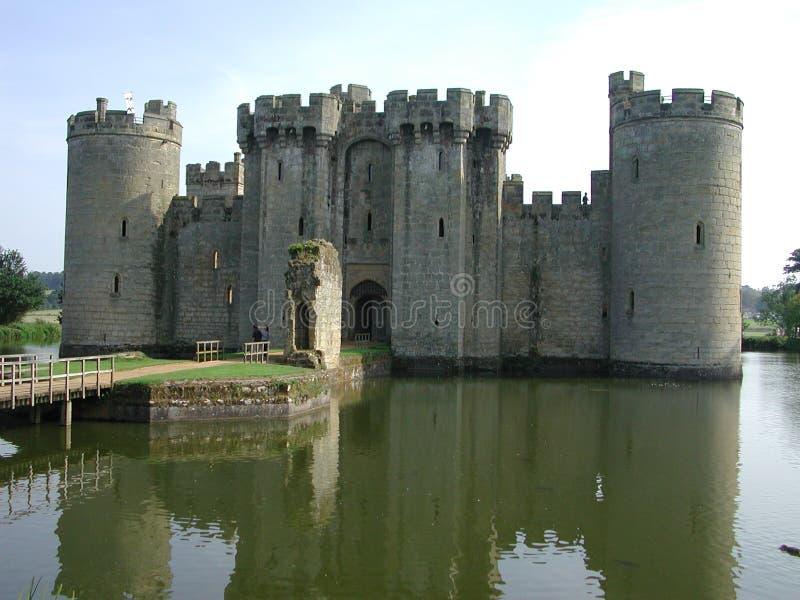 bodium城堡前面 免版税库存照片